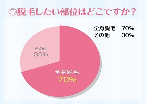 脱毛円グラフ