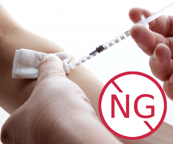 脱毛後の予防接種はNG